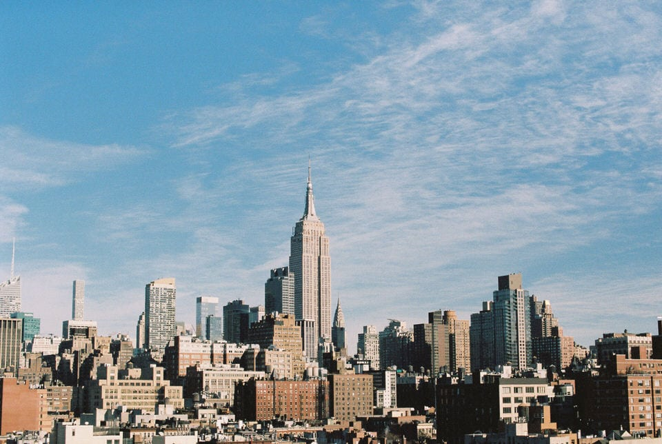 New York Sky Line Film Photography